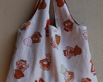 Sun bonnet Sue tote - shoulder bag, grocery tote