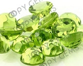 Peridot Rose Cut Cabochon 6mm Round - 1 cab,  RCPERDR6
