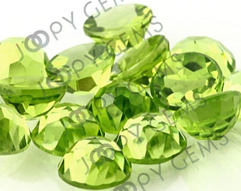 Peridot Rose Cut Cabochon 6mm Round - 1 cab