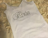 BRIDE Rhinestone Tank Top