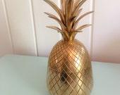 9.5 inch brass pineapple