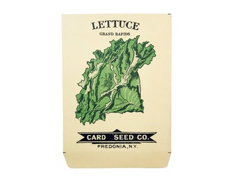 antique 1900s litho card seed co. grand rapids lettuce packet