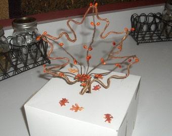 Fall Wedding Cake Topper Maple Leaf