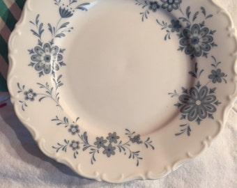 Vintage Bread And Butter Plate Christina Bavarian Blue Selfmann Weiden Made in Germany #3226