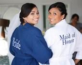2 Personalized Bridesmaids Gifts Bridesmaid Robes Monogram Waffle Robes Monogrammed Robe Kimono Robe Personalized Bridesmaids Gift