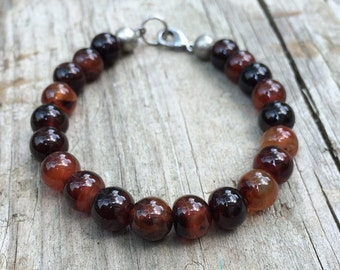 Red and Black Sardonyx Bracelet
