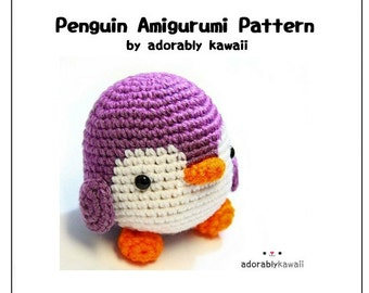 Penguin Amigurumi Pattern, Crochet Penguin Doll, PDF Crochet Pattern, Amigurumi Penguin Nursery Toy, Cute Penguin Toy, DIY Penguin Plushie