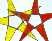 Like NieNie's- back to school personalized star, stained glass and clear glass center
