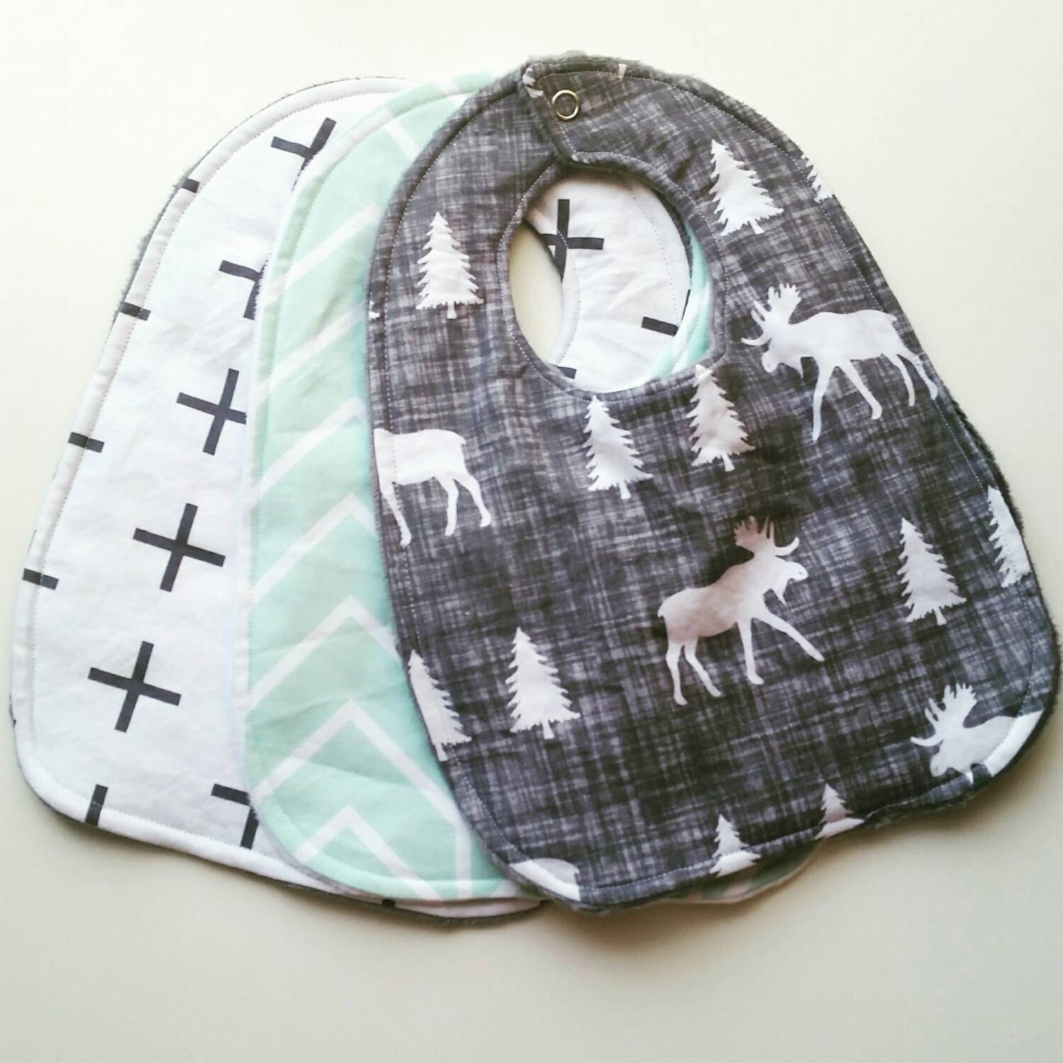 Trendy Baby Gifts : Trendy baby bib gift set boy drool