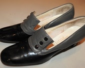 vintage steampunk 7.5 shoes 60s  Canarby street