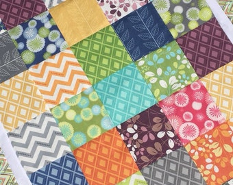 Moda. COUTURE Crib & Toddler Quilt.  30x43 Minky back.