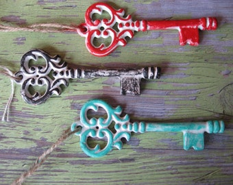 1 Key Decorative Metal Hanging Accent for Furniture Cabinets or Art Home Decor Decorating Trend B-1