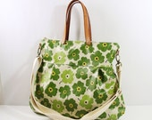 SALE-Waterproof-2 way Cross Body Bag /Fall Messenger Bag / Diaper bag / Handbag / Tote / Leather straps / Women messenger / Travel bag