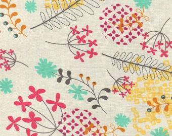 Washi floral cream Rashida Coleman Hale Timeless Treasures fabric FQ or more