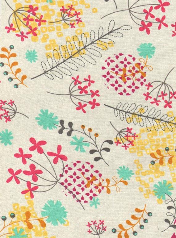 Super SALE : Washi floral cream Rashida Coleman Hale Timeless Treasures fabric FQ or more