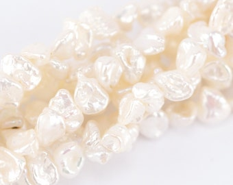 8mm White Keishi Pearls