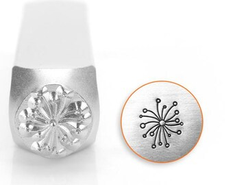Dandelion Metal Stamp ImpressArt- 6 mm Metal Design Stamp-Perfect for Your Hand Stamping Needs-Steel Stamps
