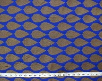 blue brocade fabric indian fabric ornate fabric decorative fabric - 1 yard - br075