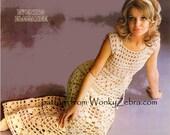 Vintage Evening Elegance Crochet Pattern PDF 797 from WonkyZebra