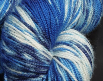 Merino/Cashmere/Nylon Jumbo High Twist Special Delivery Sock Yarn 600 yds-Singing the Blues