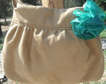 VEGAN SUEDE PURSE