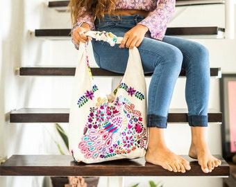 SALE Bohemian Embroidered Handbag Saturday Market