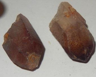 Lepidocrocite in Quartz Crystal