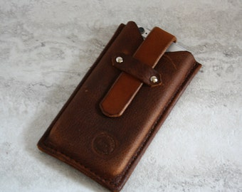 Handmade Leather Phone Case, iPhone case, Phone Sleeve, iPod Case
