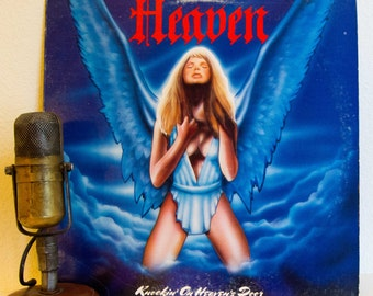 "Heaven (Featuring Allan Fryer) Vinyl Record Album 1980's Australian Hard Rock ""Knockin' On Heaven's Door"" (1985 Cbs w/""Show On The Road"")"