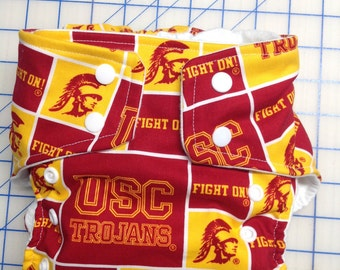 University of Southern California Inspired Cloth Diapers/Diaper Cover
