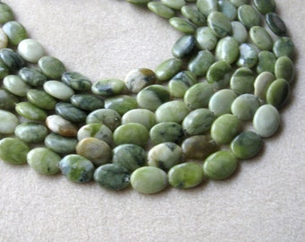 Serpentine Beads, Gemstone Beads, Craft Supplies, Jewelry Making Beads, Green Serpentine, Full Strand, Bead Supplies, Jewelry Supplies