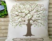 My Family Tree Pillow | Family Tree | Personalized with Names and Est. Date - Insert Included