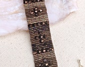 Loomed Bracelet - Beaded Loom Bracelet - Earthy Beaded Bracelet - Seed Bead Woven Bracelet