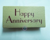 Happy Anniversary  Rubber Stamps, Happy Anniversary mounted Rubber Stamps