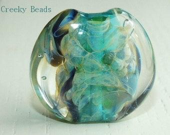 Handmade Lampwork Focal bead - 'Ocean' - Creeky Beads SRA