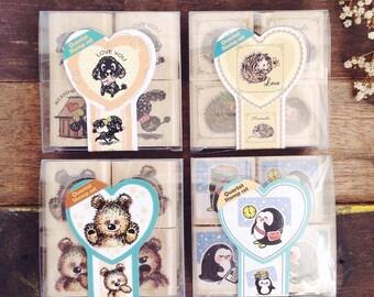 animals stamp set quartet