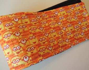 Dog Belly Band, WeeWrap in Minion Fabric, Stops Marking,  Personalized