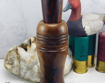 Duck Call Single Reed English Walnut body and Coco bolo stopper from South America  # 5