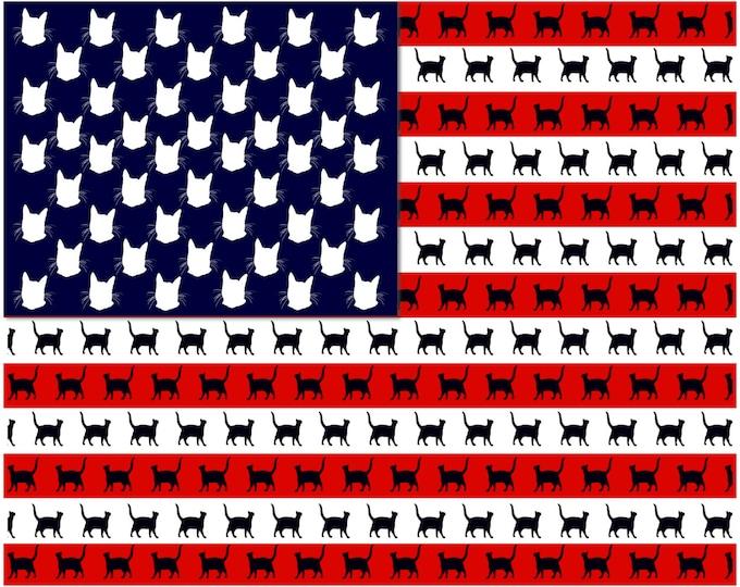 Cat Flag Print Poster