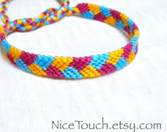SUMMER SALE!!! Free Shipping or Save 20% ~ Beach Ball: Summer Series knotted friendship bracelet ~ Made to Order