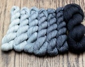 Exquisite Sport- Film Noir Gradient- Colour Adventures (fibers: superwash merino, cashmere, silk)