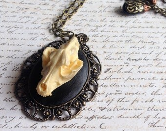 Black wolf - Necklace
