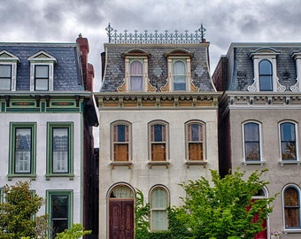 Lafayette Square in St Louis - Fine Art Photograph Painted Ladies Victorian Homes
