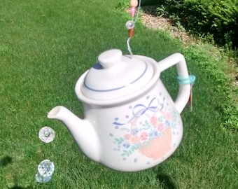 Rescued and Repurposed Garden Teapot