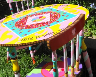 Candy Cupcake Theme Table and Chairs for kids Children's Table and Chair Set  Sweets Lollipops Chocolate Party Table and Chairs Tea Party