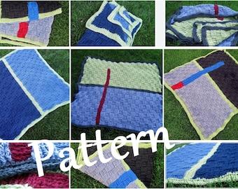 CROCHET PATTERN  Art Deco baby blanket--pattern with three variations - PDF