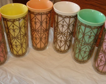 Pastel rubberized tumblers