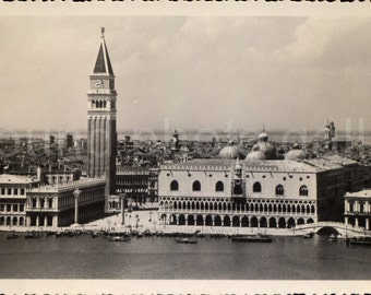 Vintage Photo, San Marco Square, Venice Italy Black & White Photo, Found Photo, Vacation Photo, Travel Photo