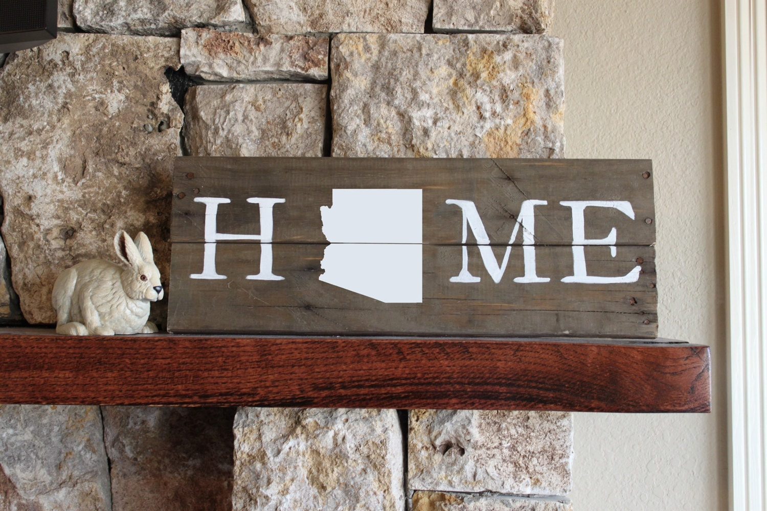 Wooden Wall Signs : Arizona home reclaimed wood sign wall art wooden