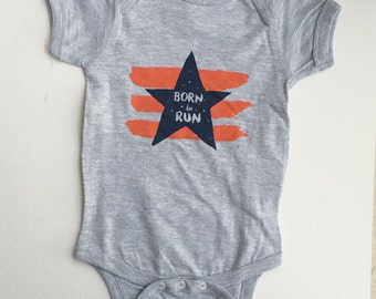 Born To Run Baby Bodysuit